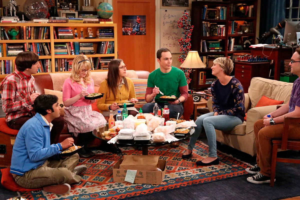Famosas las cenas de 'The Big Bang Theory'.