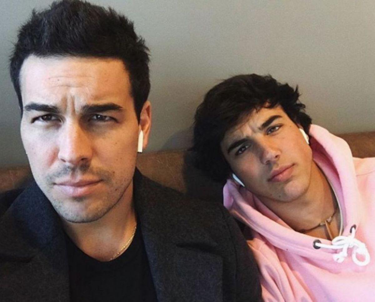 Con su hermano Óscar, también actor: el relevo.