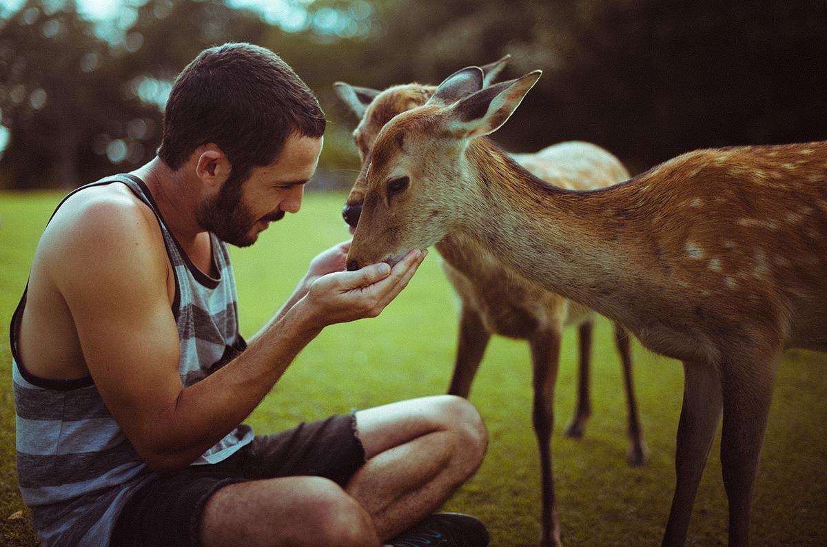 Ibai disfruta estando en contacto con la naturaleza.