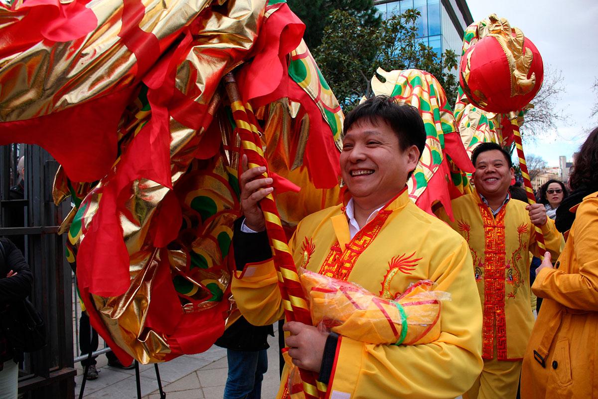 Así luce el año nuevo chino en Barcelona. Foto: Institut Confuci.