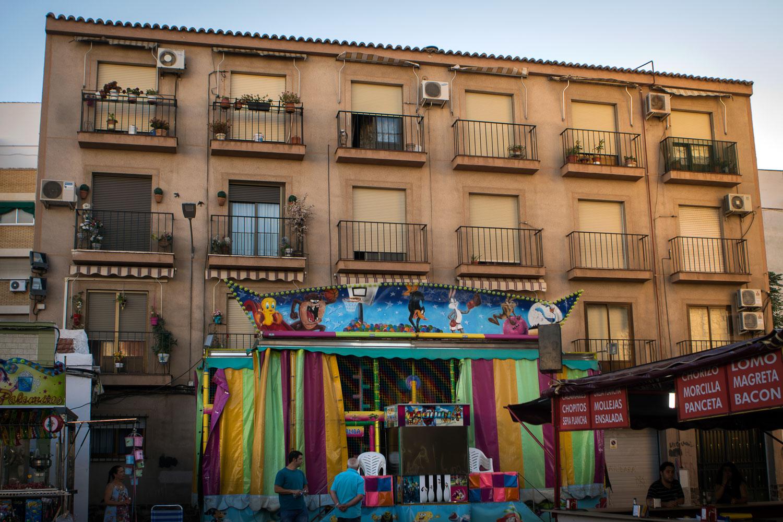 Para los niños es toda una fiesta. Verbena de Santiago. Foto: Manuel Ruiz Toribio.