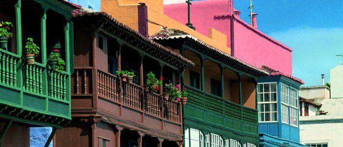 Balcones tradicionales de Santa Cruz de La Palma.