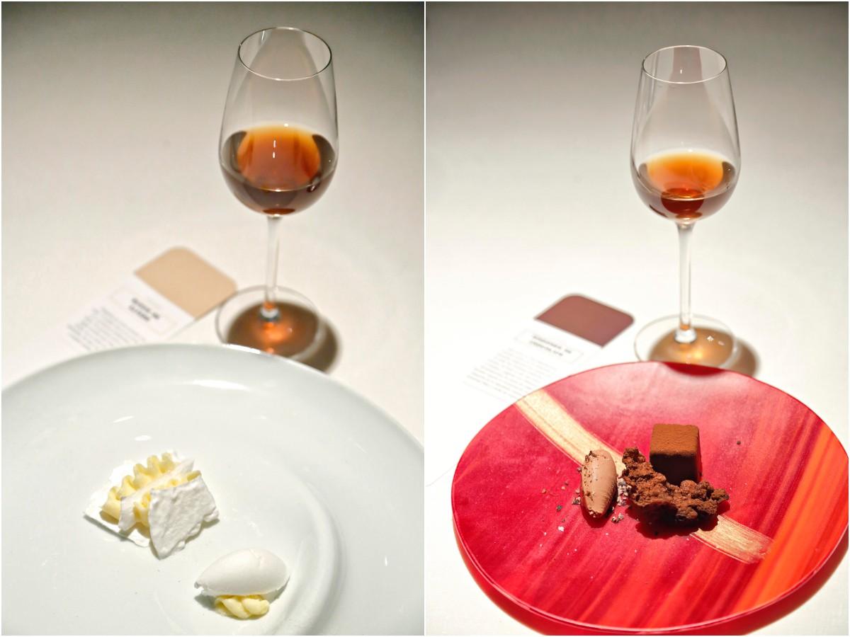 Restaurante 'El Portal de Echaurren'. Postres: Rusos de Alfaro y Tendones de chocolate
