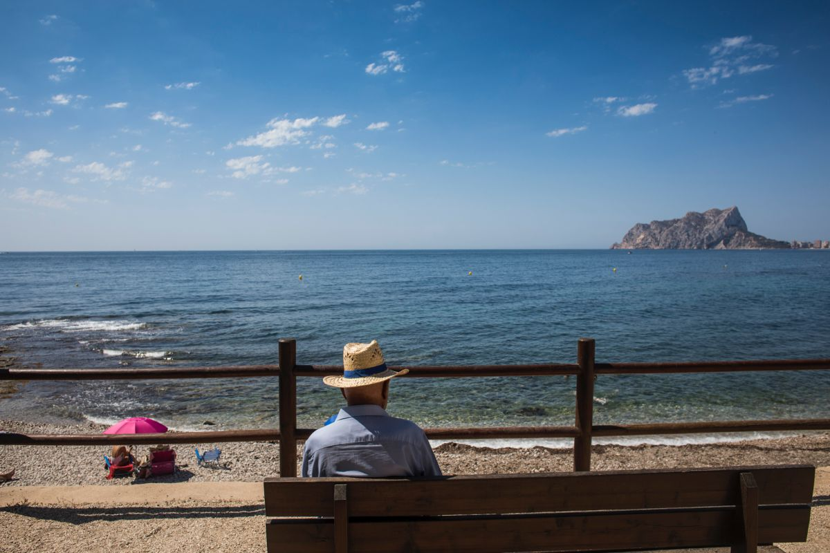 Cala Baladrar, en Benissa, junto a Calpe, en Alicante.