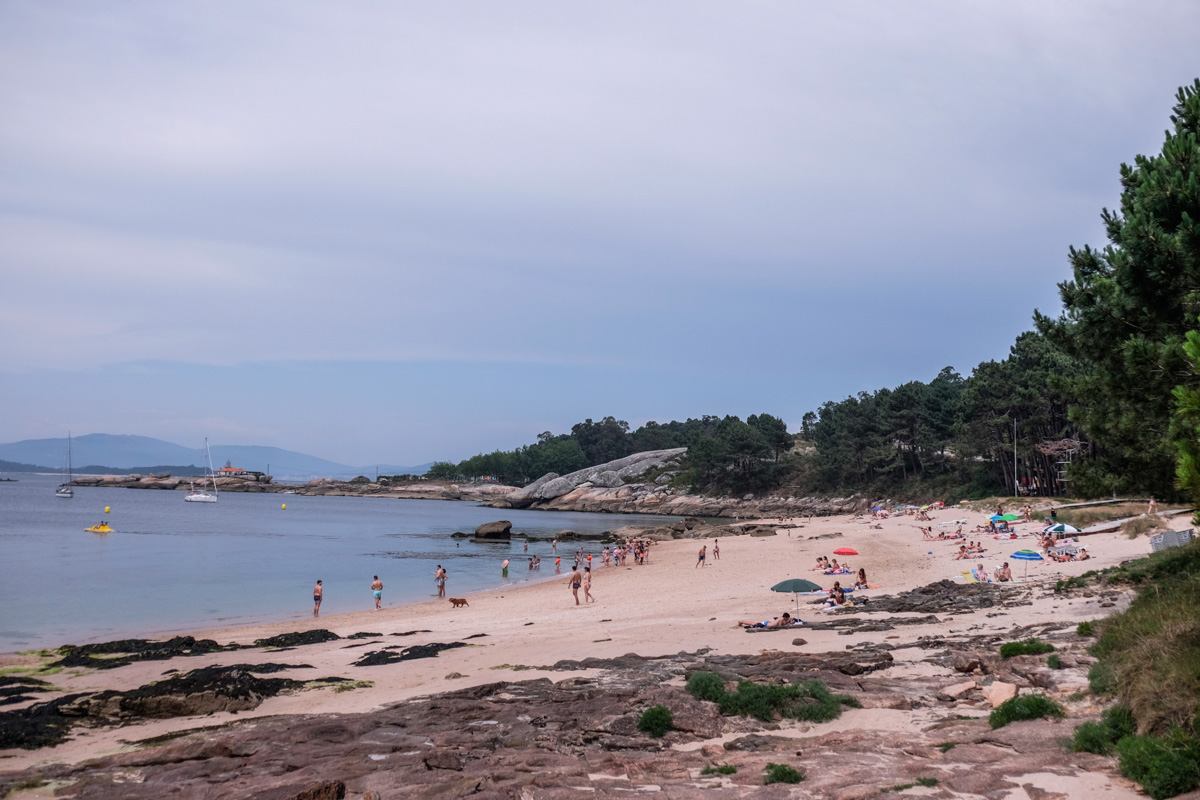 La Playa da Area da Secada, con su bandera azul, es de las favoritas de la isla