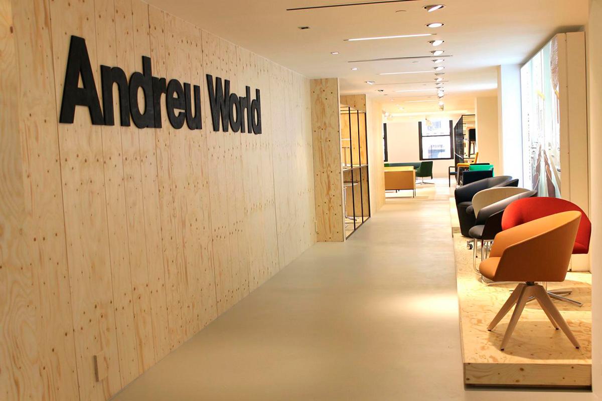 Sus muebles han dado la vuelta al mundo. Aquí, 'showroom' en Nueva York. Foto: Andreu World.