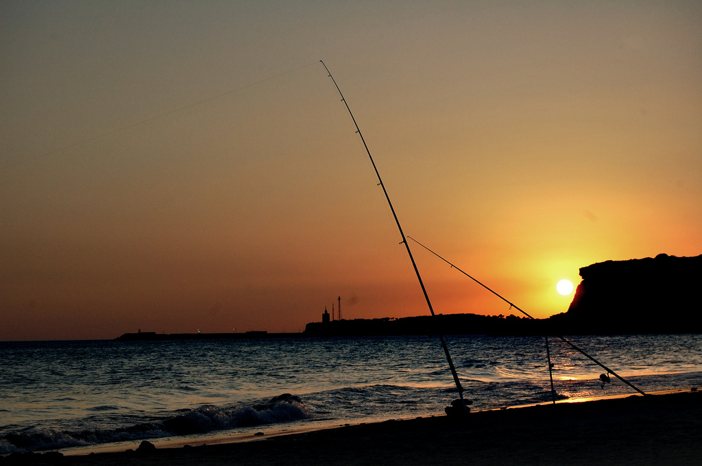 Atarceder en la playa Fuente del Gallo. Foto: Daniel (con Creative Commons).