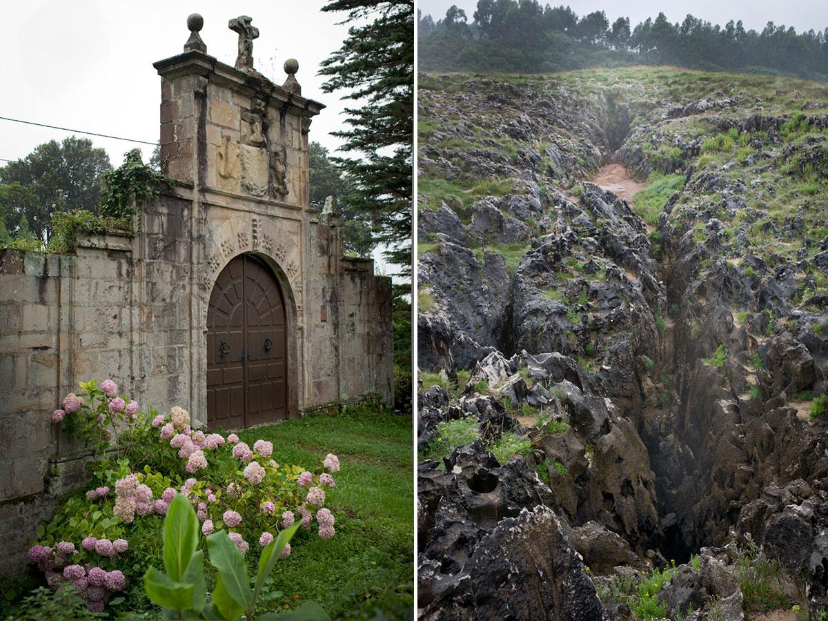 Puerta de casa de Indianos en Buelna, camino del Cobijeru. Bufón de Arenas. Foto: Sofía Moro.