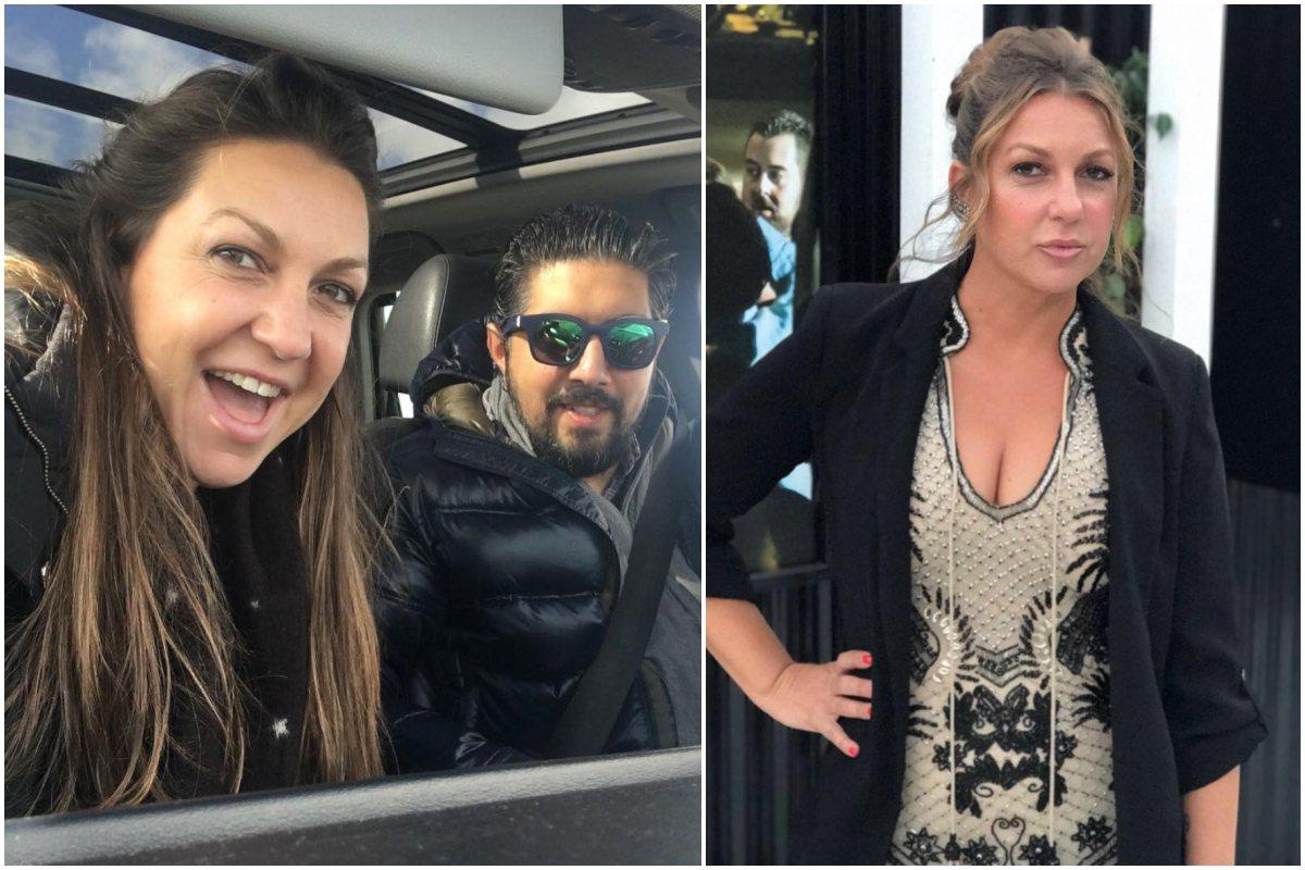 La Niña Pastori con su marido, Chaboli, de gira en la furgo y lista para actuar.
