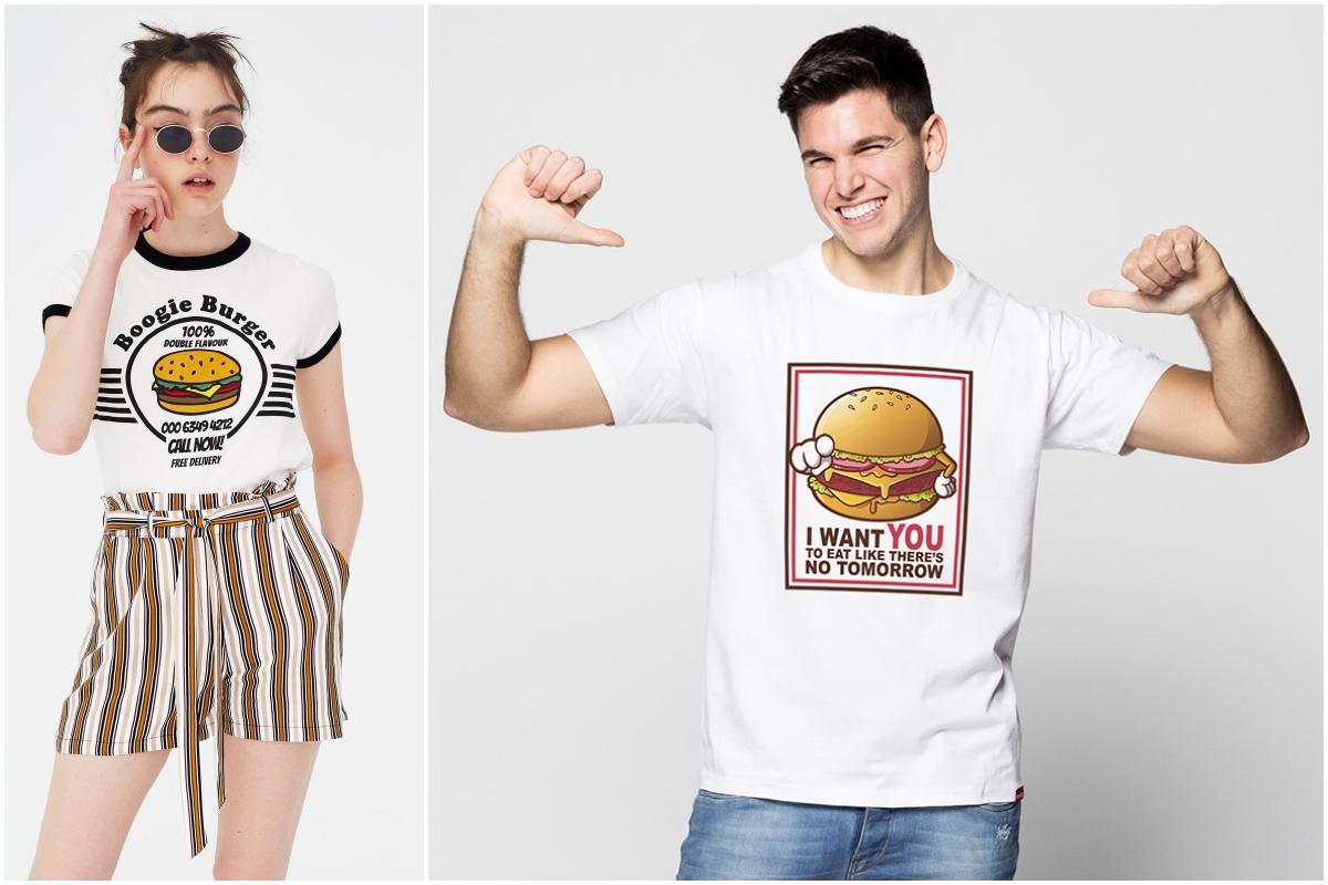 Una hamburguesa elaborada con esmero crea afición, también en la moda (Pull&Bear y Pumpling.com).