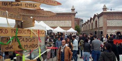 Mercado ecológico en Matadero Madrid.