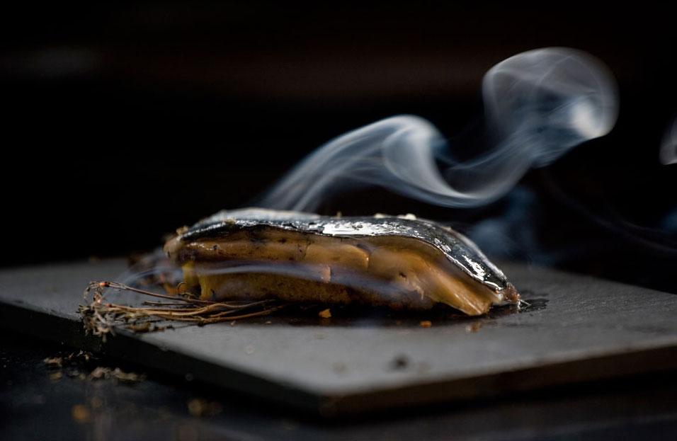 Sardina con foie.
