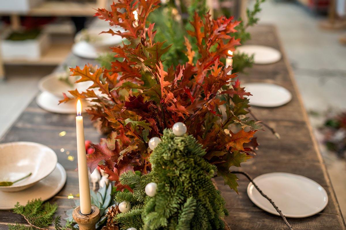 Velas centro de mesa navidad