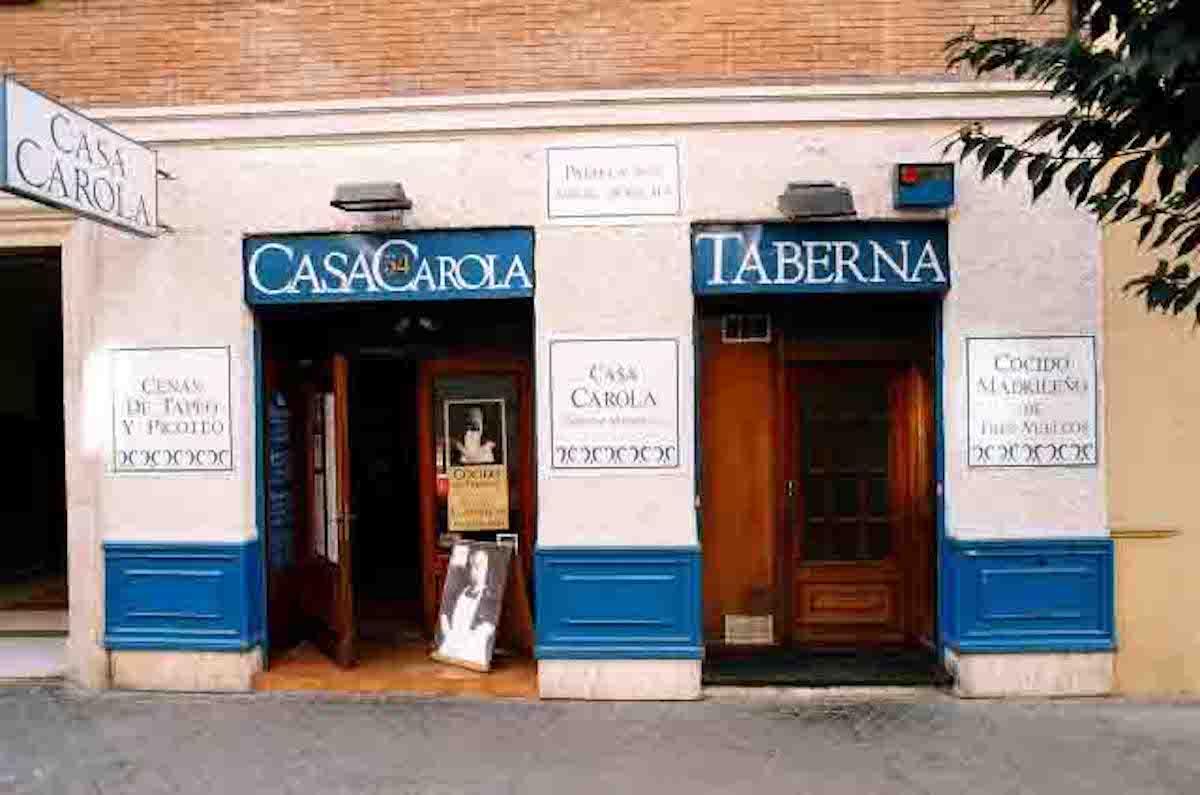 Restaurante Casa Carola, Madrid.