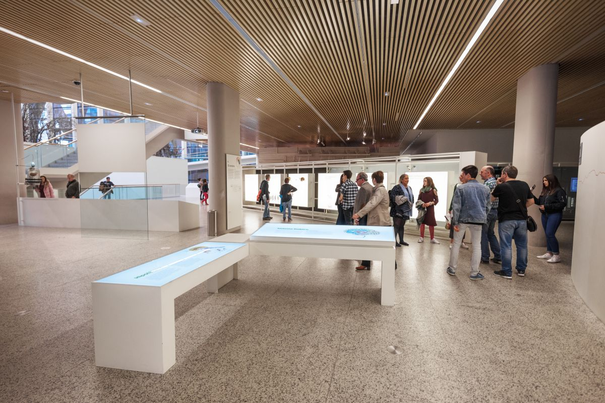 Taquillas del Museo de la Evolución Humana, en Burgos. Foto: Shutterstock