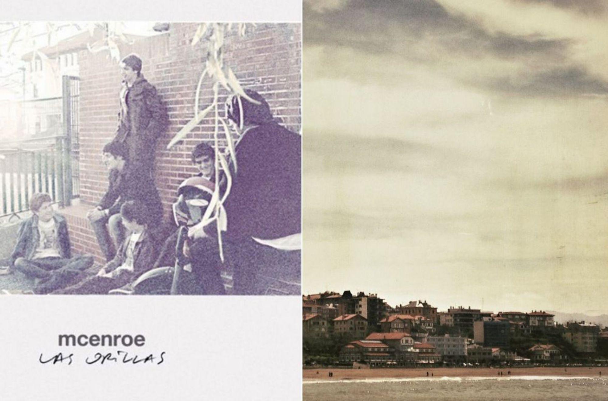 La portada del disco con el que se consolida McEnroe y una vista del Puerto Viejo de Bilbao. Fotos: Facebook McEnroe.