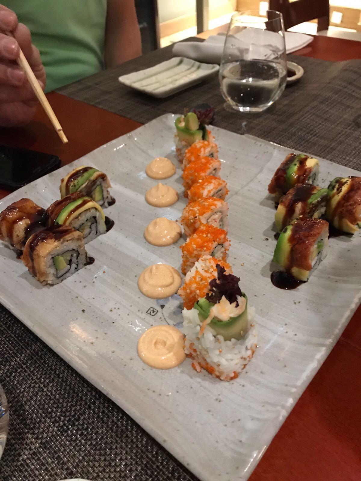 El sushi del japo 'Miyama', una necesidad. Foto: Úrsula Corberó.
