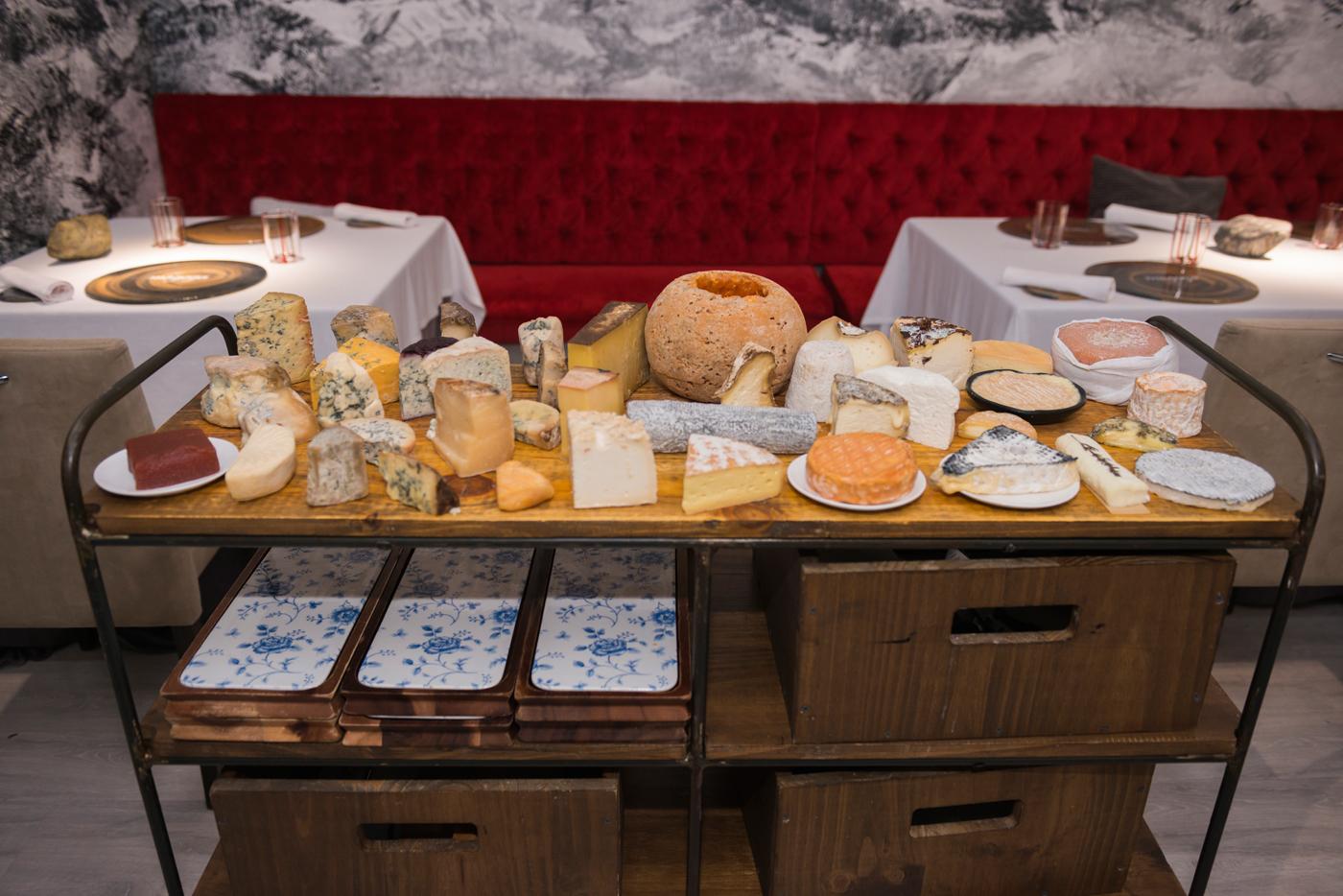 La mesa de quesos de Magoga, irresistible.