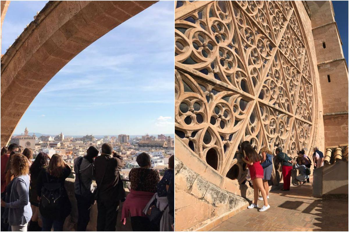 La Seu desde las alturas. Foto: Catedral de Mallorca
