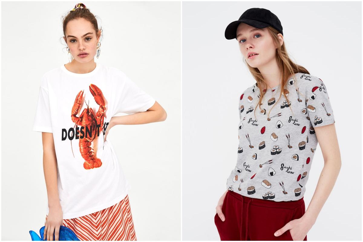 Langostas y sushi, del mar a tu camiseta (Zara y Pull&Bear).