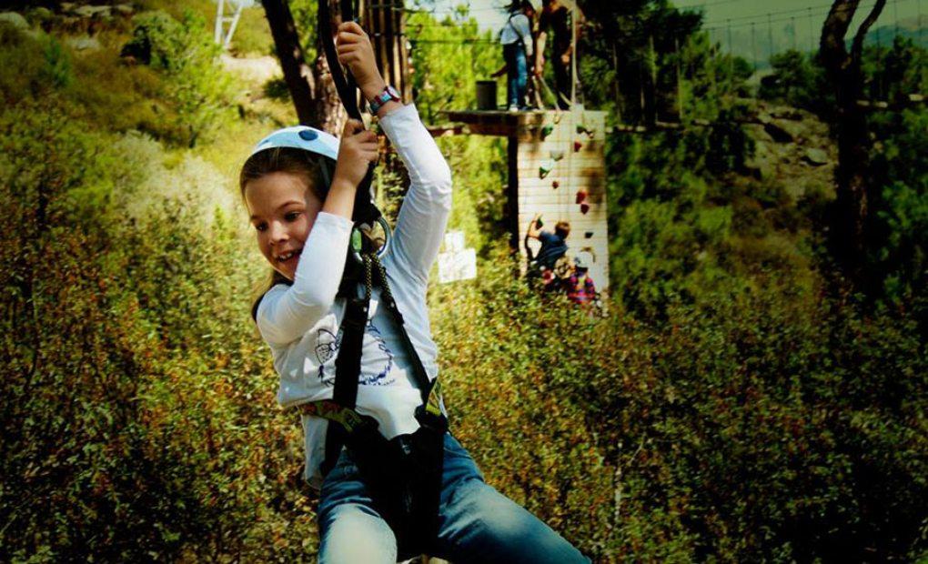 ¿A tus niños les gusta la aventura? Foto: Forestal Park Madrid.