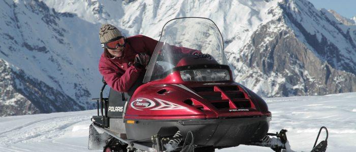Pista de motos de nieve.