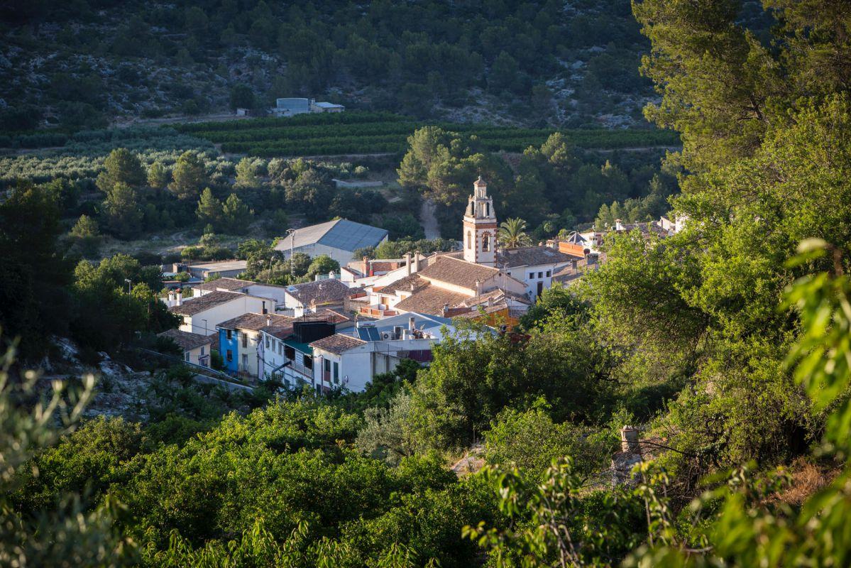 Vista del bonito pueblo de la Benialí.