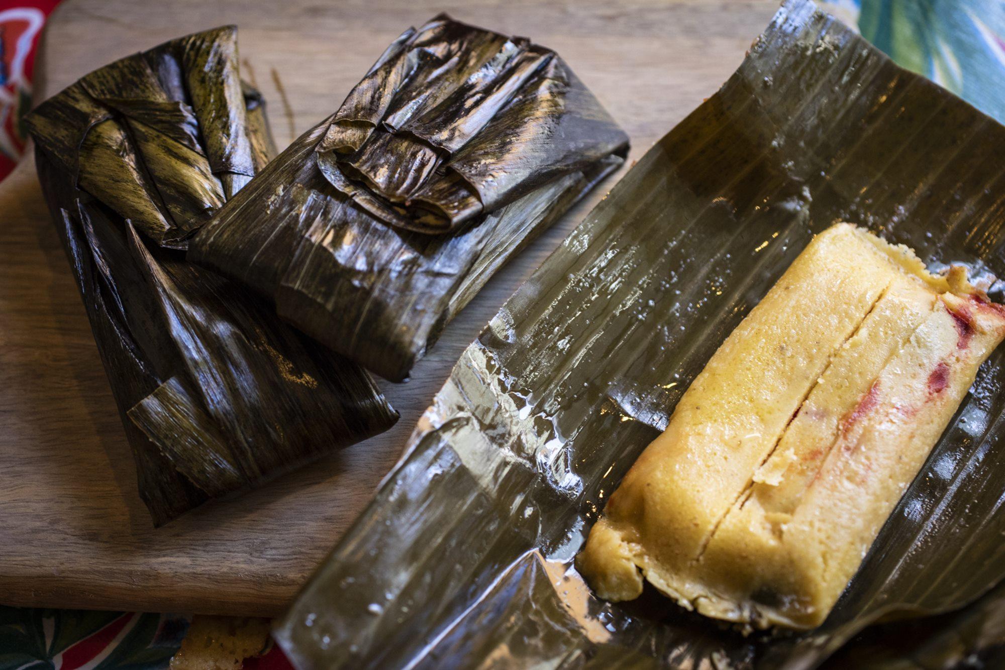 Tamales de rajas de maíz con queso, con la colaboración de Michelle, de 'La Despensa de Frida'.