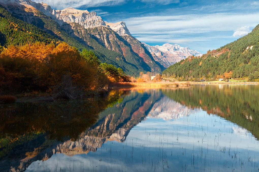 El Valle de Pineta en otoño. Foto: shutterstock.