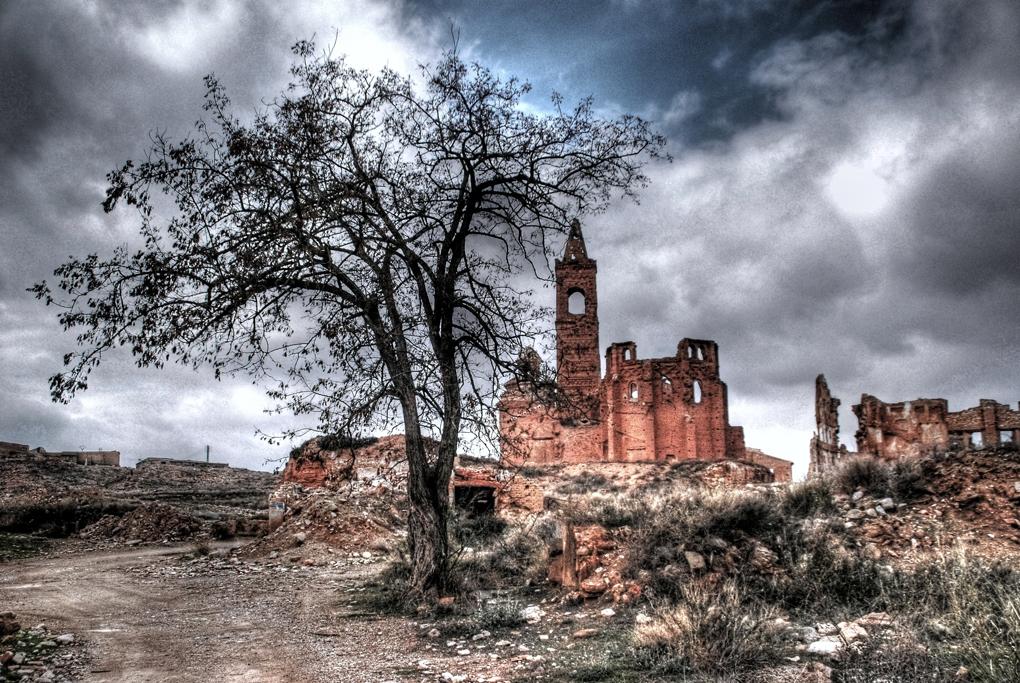 El pueblo fantasma de Belchite. Foto: David Sanz. Flickr.