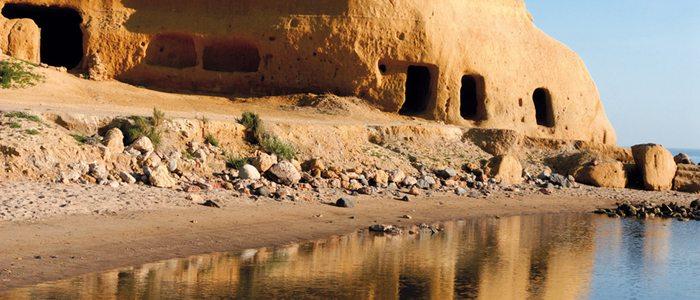 Formaciones rocosas en la bahía de Águilas.