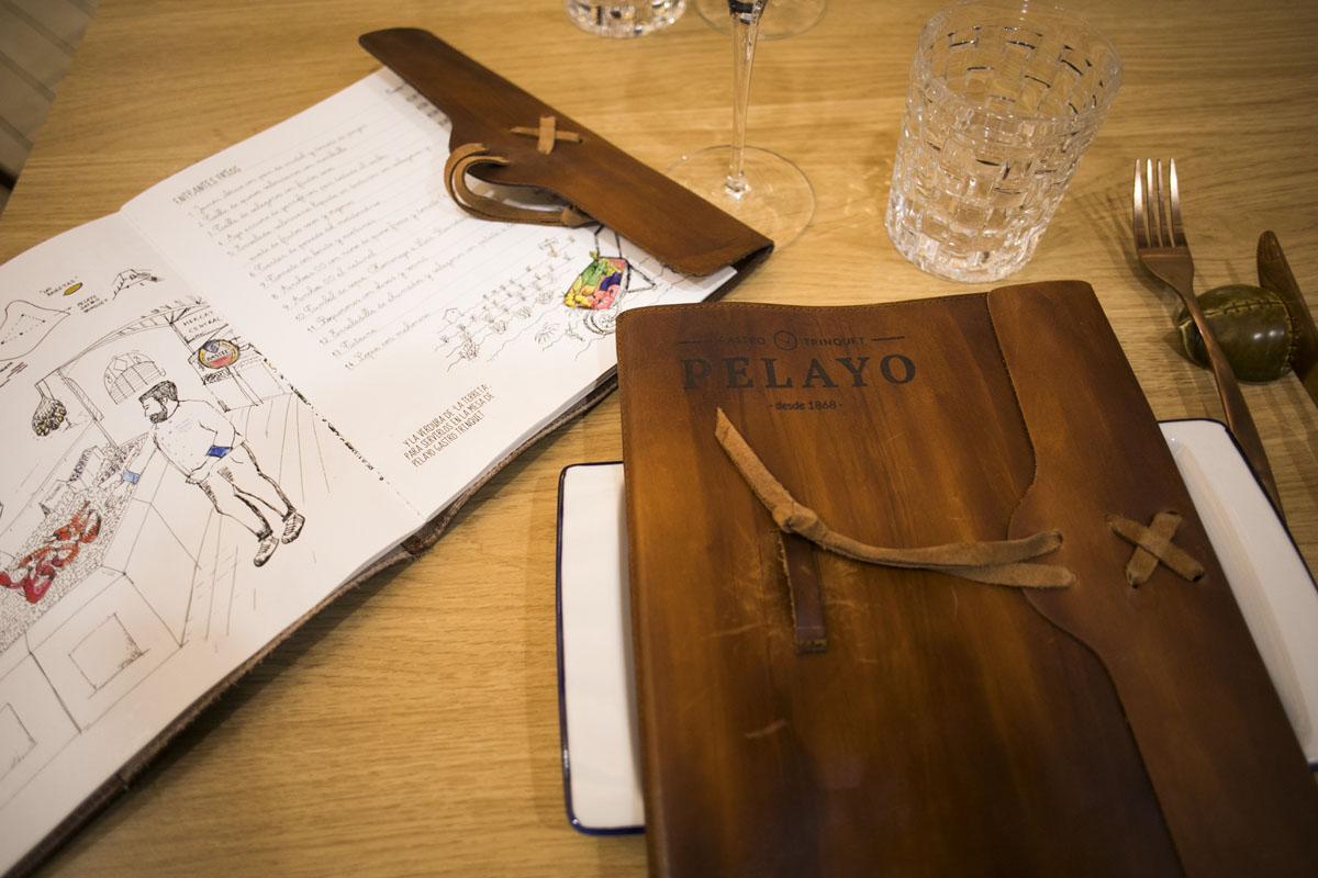 Detalle de la carta del restaurante.