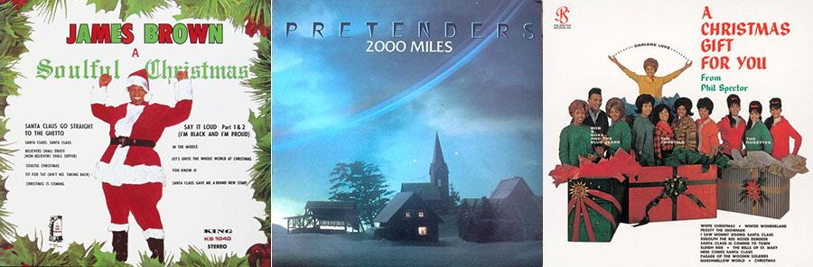 Carátula de los single 'Soulful Christmas' y '2000 miles' y del disco en el que participaron The Ronettes.