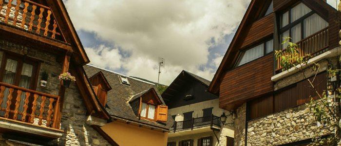 Casa típicas pirenaicas.