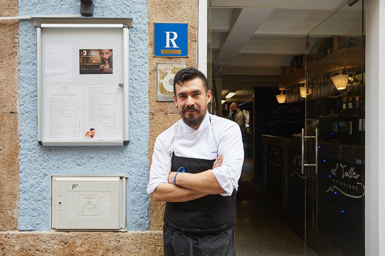 Restaurante 'El Taller'. Jorge Miguel, de origen peruano, se ha especializado en cocina nikkei, mezcla de cocina peruana y japonesa.