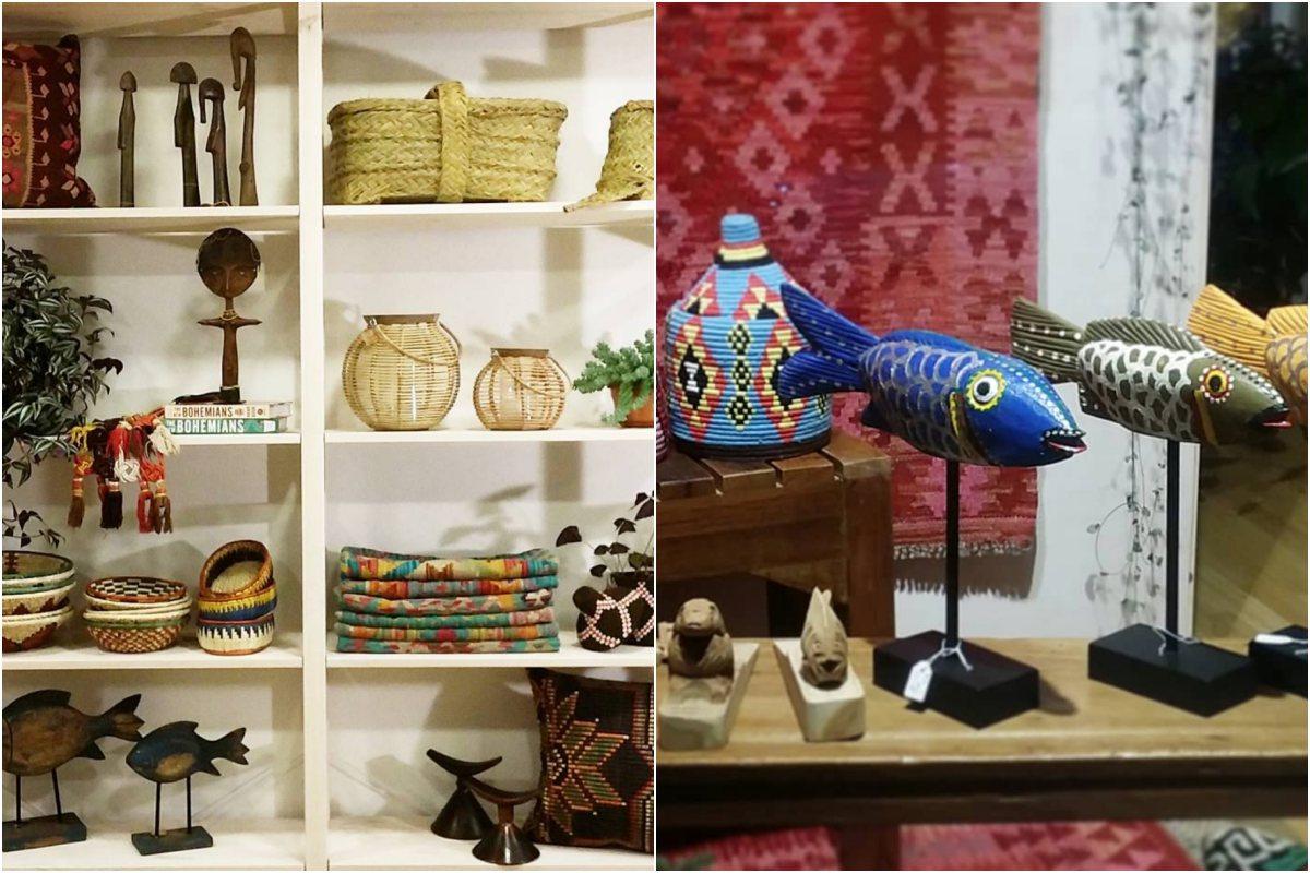 Muchos de los objetos que venden en su tienda proceden de Mali. Foto: Instagram.