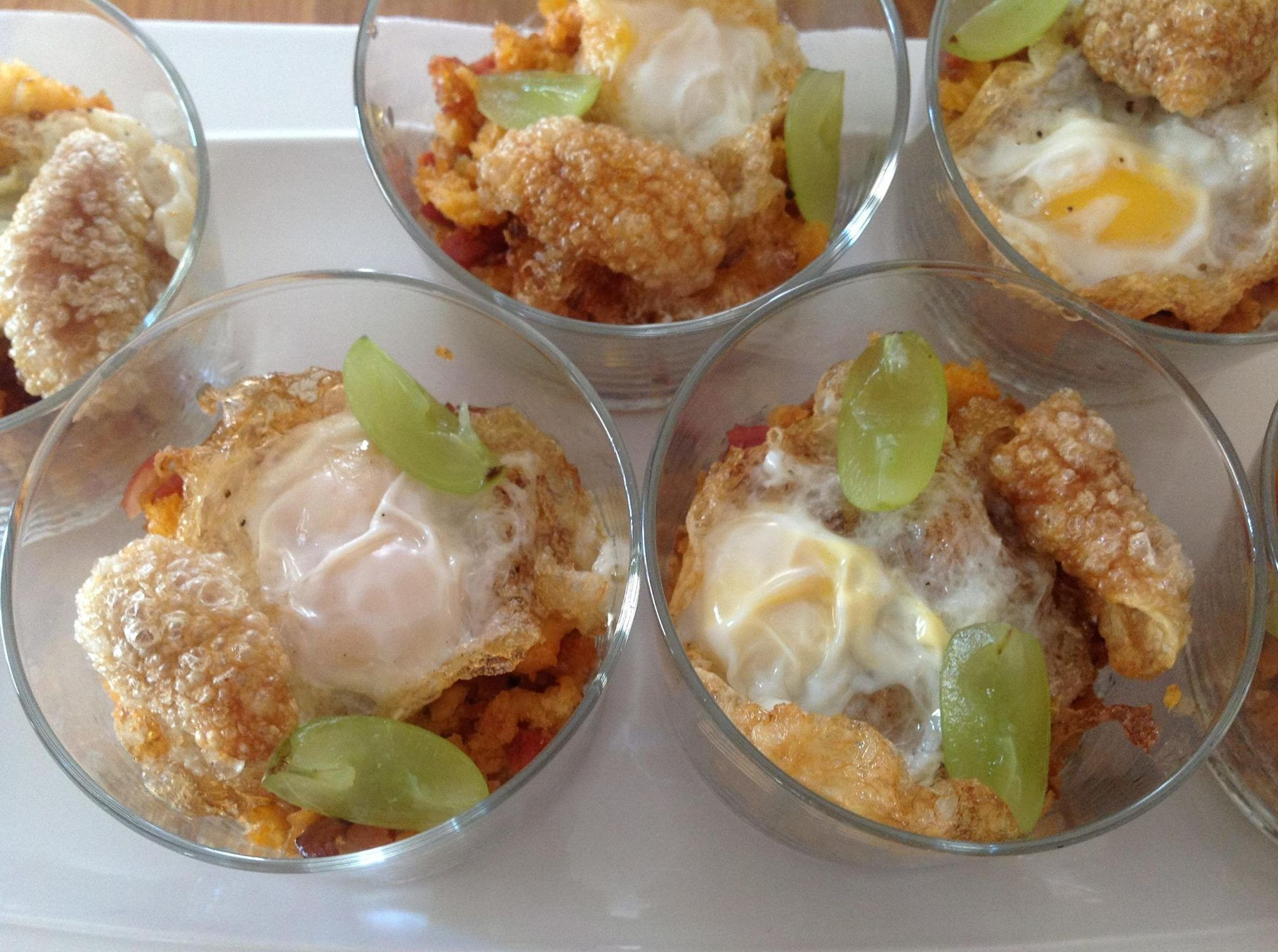 Una versión de las migas con huevo. Foto: Restaurante Duque.