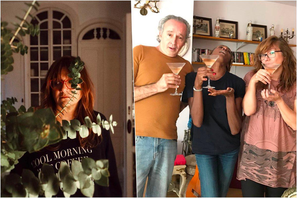 Isabel Coixet con amigos, tomando un cóctel, aunque es más de vino y champán Fotos: Instagram.
