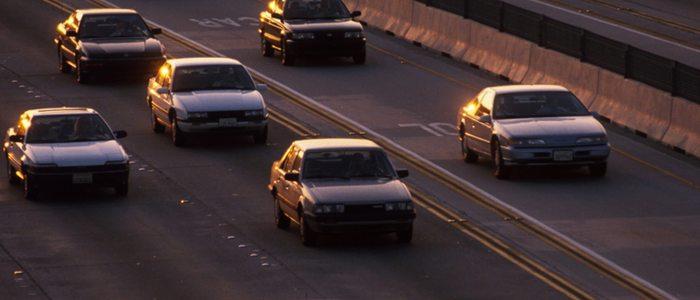 Debe respetarse la distancia de seguridad entre vehículos.