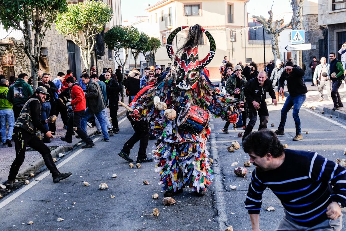 Celebración De La Fiesta De Jarramplas Piornal Valle Del Jerte