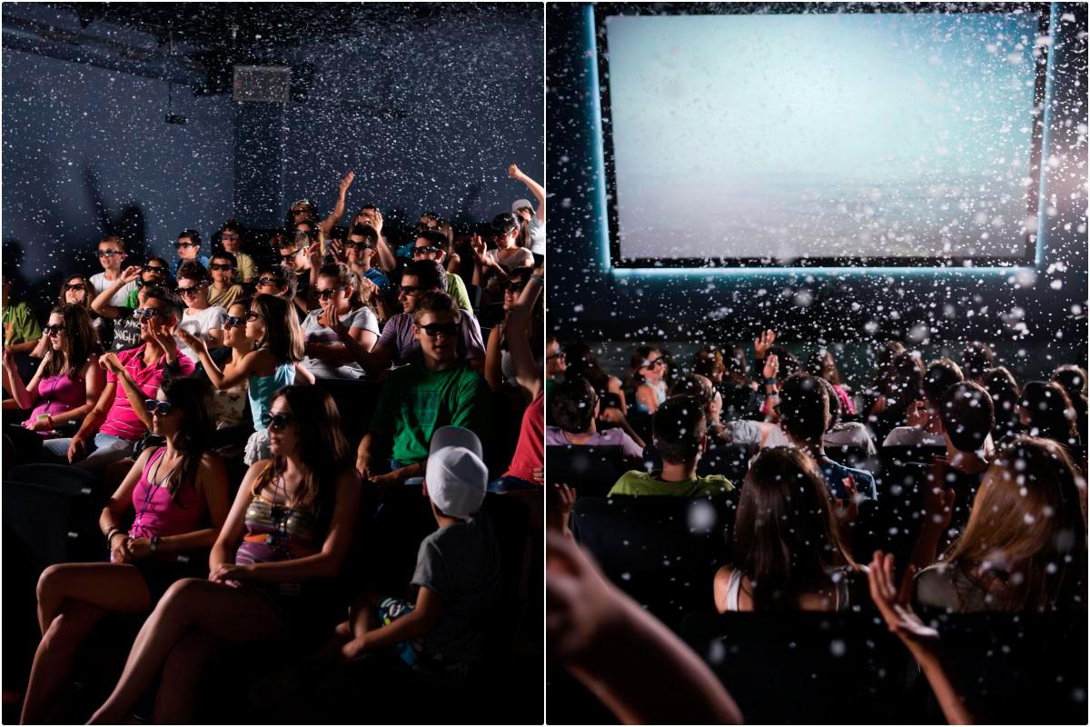 La finca dispone de una novesa sala de cine 4D. Foto: Juanjo Pascual