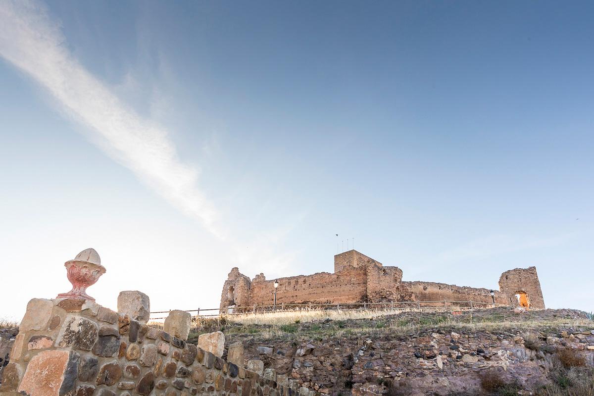 Trasmoz: Castillo medio derruido del pueblo. Foto: Ferrán Mallol