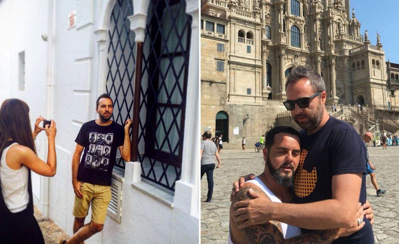 Sus fans lo reconocen allá donde vaya de vacaciones, ya sea en Altea o en Santiago de Compostela. Fotos: Instagram.