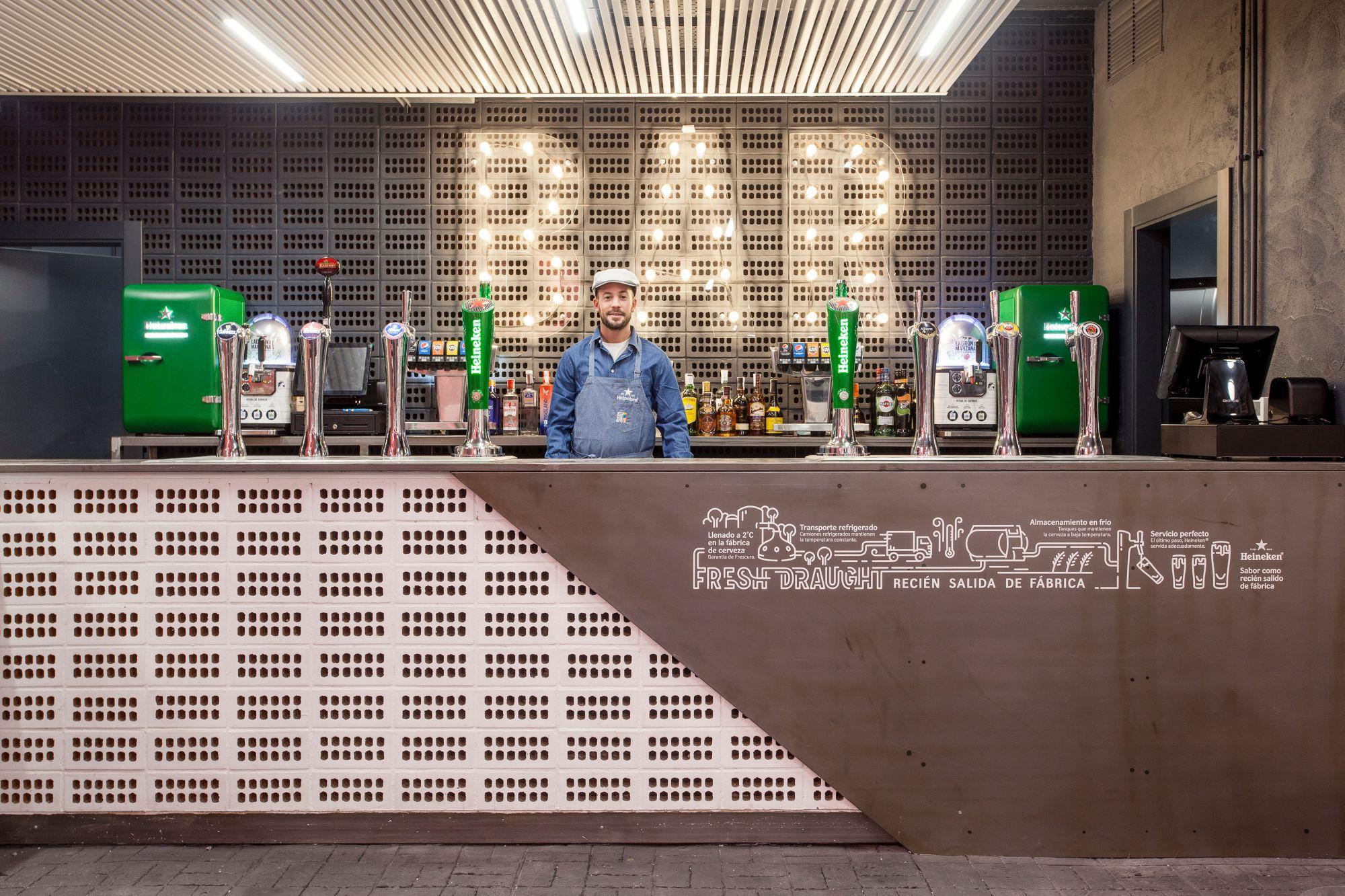 El innovador sistema Fresh Draught traslada la cerveza directamente de la fábrica al vaso. Foto: Mercado San Valero.