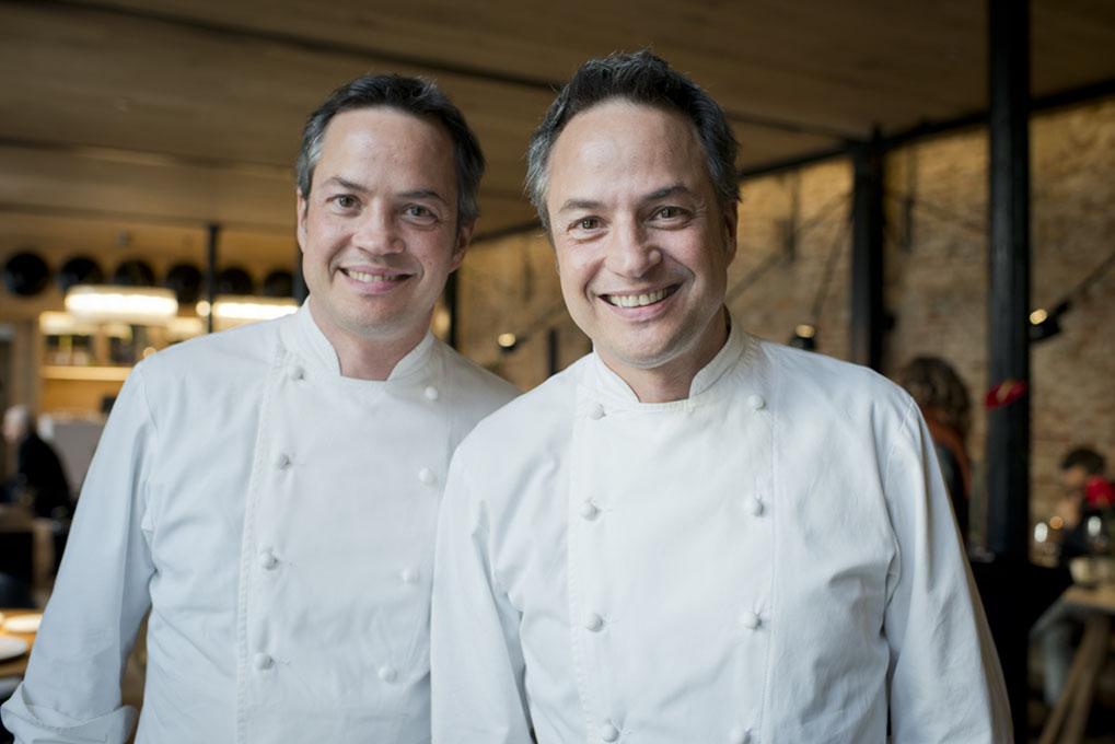 Javier y Sergio, en la presentación de su nuevo restaurante.