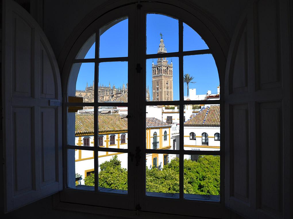 Las vistas de la Giralda desde la casa-estudio Amalio. Foto: Mamadú Dabó.