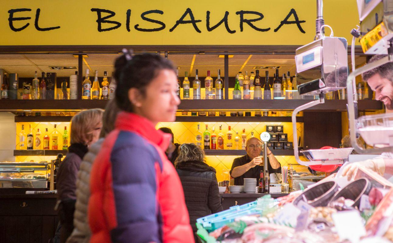 Bares de mercado en Barcelona, 'El Bisaura'.