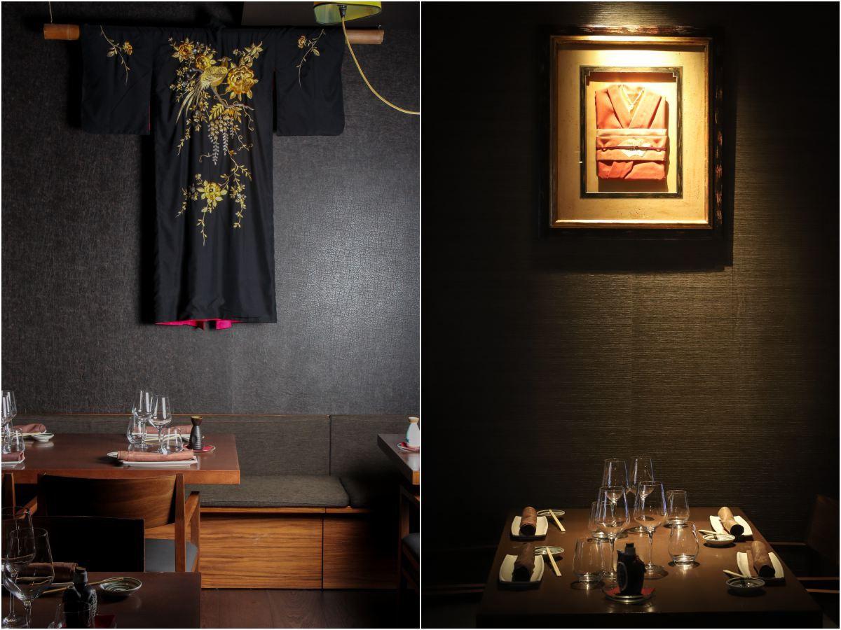 El kimono, el que fuera el traje tradicional japonés, como objeto decorativo.