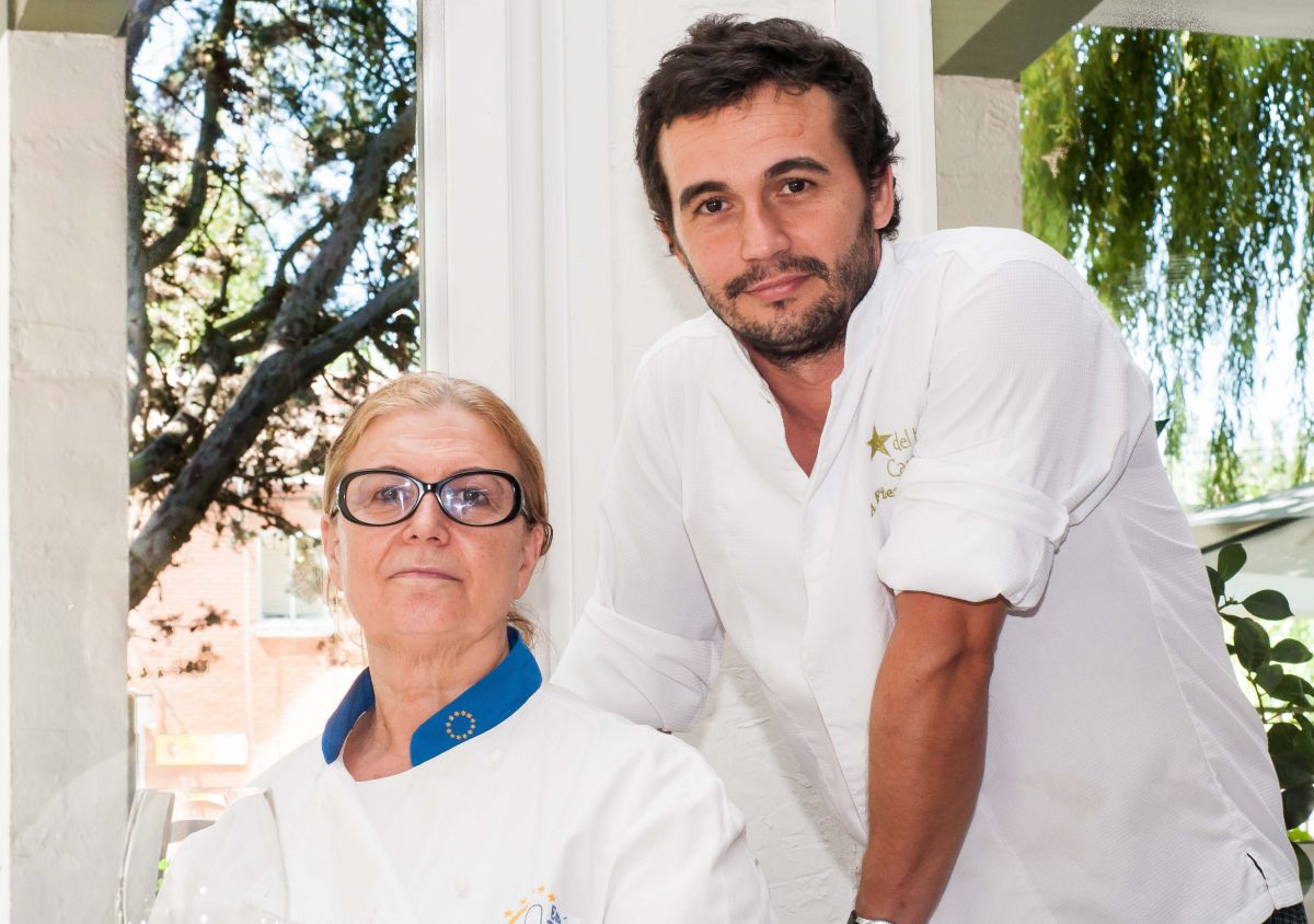 Pilar Pedrosa y su hijo, Alfonso Fierro. Foto: Restaurante Estrella del Bajo Carrión.