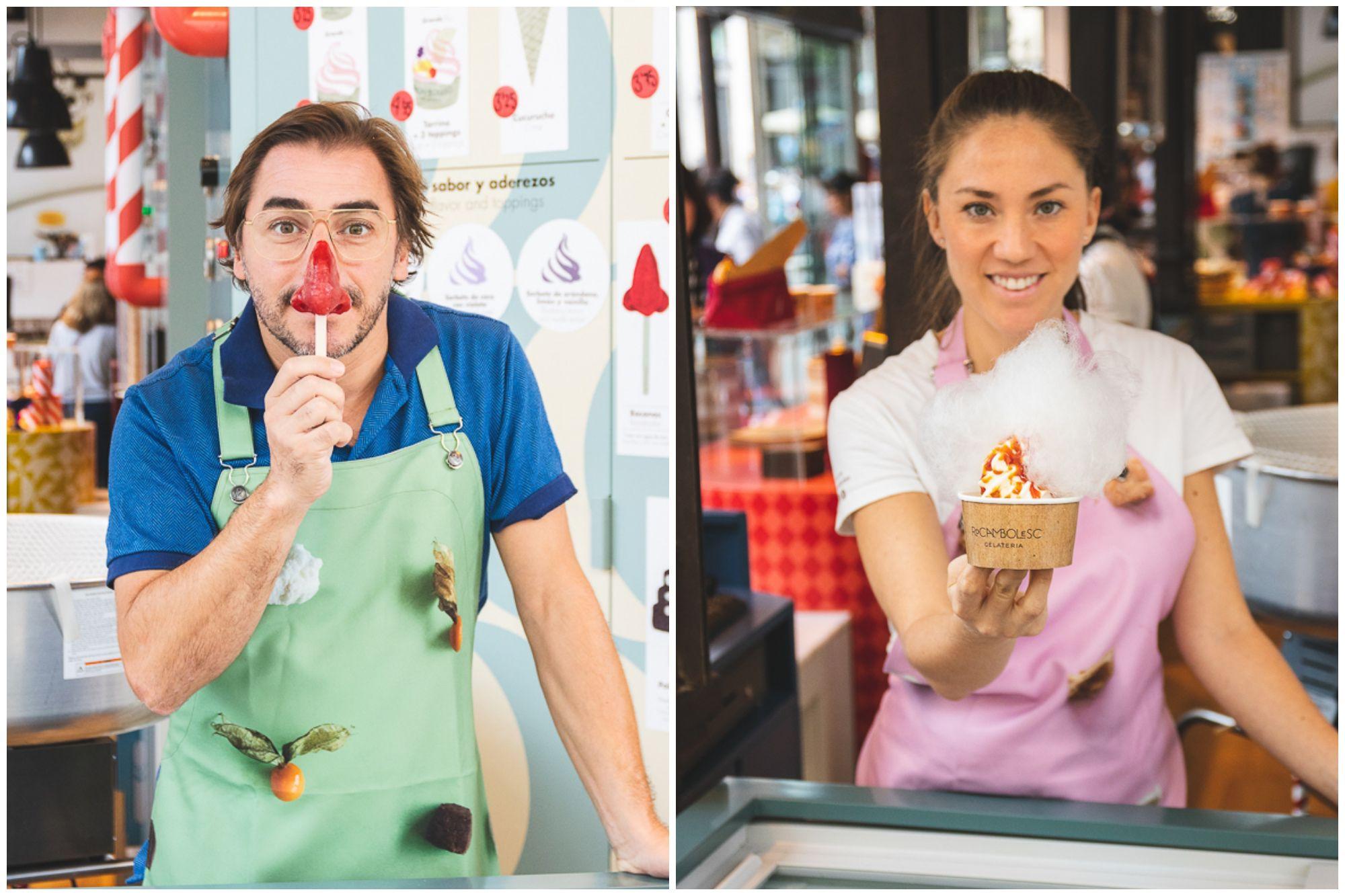 Los helados de Jordi Roca llegan a Madrid, al turístico Mercado de San Miguel. Fotos: Rocambolesc.
